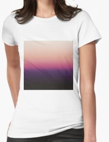 Ombré Sunset Womens Fitted T-Shirt
