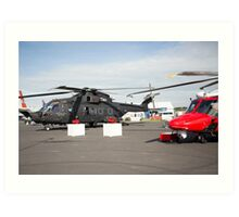 Agusta-Westland HH-101 helicopter on show at the Futures Day & FAB Friday at Farnborough International Airshow Art Print