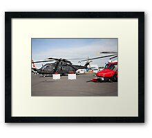 Agusta-Westland HH-101 helicopter on show at the Futures Day & FAB Friday at Farnborough International Airshow Framed Print