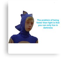 Sonic Sanic The Problem of Being Faster Than Light Canvas Print