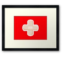 First Aid Plaster Framed Print