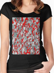 The letter matrix RED Women's Fitted Scoop T-Shirt