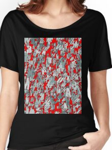 The letter matrix RED Women's Relaxed Fit T-Shirt