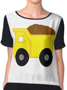 Yellow Dump Truck Chiffon Top