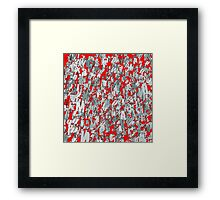The letter matrix RED Framed Print