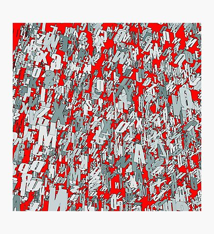 The letter matrix RED Photographic Print