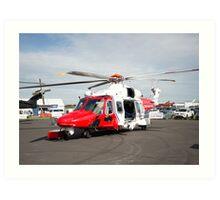 Coastguard rescue helicopter  Art Print