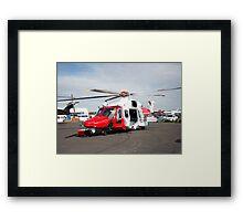 Coastguard rescue helicopter  Framed Print