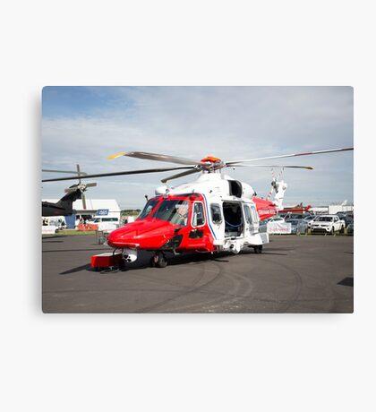 Coastguard rescue helicopter  Canvas Print