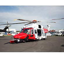 Coastguard rescue helicopter  Photographic Print
