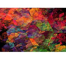 Colorful Psychedelic Abstract Fractal Art Photographic Print