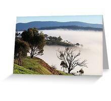 Murchison Gap Fog Greeting Card