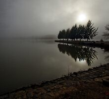 Lake Ginninderra in Canberra/Australia on a foggy morning (5) by Wolf Sverak