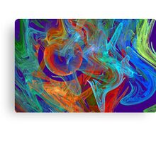 Colorful Computer Generated Abstract Fractal Flame Canvas Print