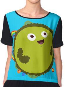 Happy Green Planet Chiffon Top