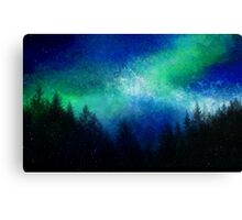 Aurora Borealis Green Night Sky  Canvas Print