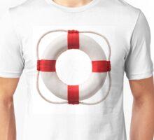 white-red lifebuoy, isolated on white background Unisex T-Shirt