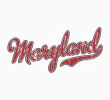 Maryland Script VINTAGE Red by Carolina Swagger