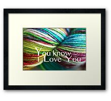 Love Yarn Framed Print
