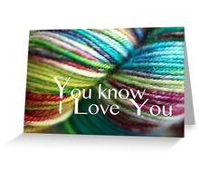 Love Yarn Greeting Card