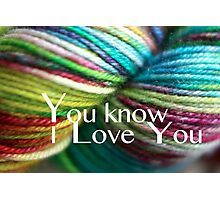 Love Yarn Photographic Print