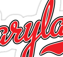 Maryland Script Red Sticker