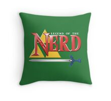 Legend of the Nerd Throw Pillow