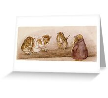 Guinea Pig workers by Beatrix Potter Greeting Card