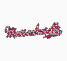 Massachusetts Script Red T-Shirt