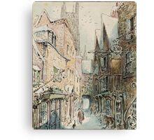 Beatrix Potter old English Street Illustration Canvas Print