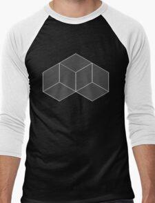 Geometric Illusion - White Men's Baseball ¾ T-Shirt