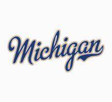 Michigan Script Blue Kids Clothes