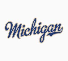 Michigan Script Blue by Carolina Swagger