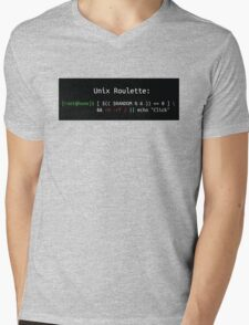 Unix Roulette Mens V-Neck T-Shirt