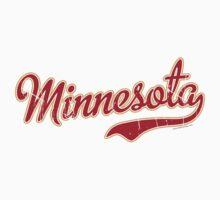 Minnesota Script VINTAGE Crimson by Carolina Swagger