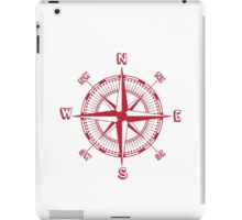 Red Compass iPad Case/Skin