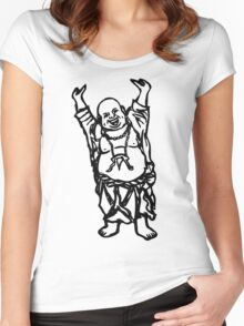 Laughing Buddha Women's Fitted Scoop T-Shirt