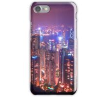 Hong Kong from top of mt Victoria iPhone Case/Skin