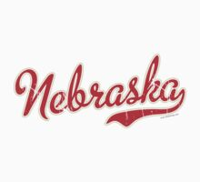 Nebraska Script VINTAGE Red by Carolina Swagger