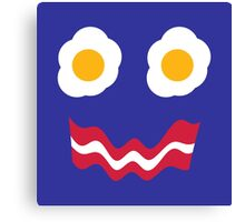Eggs and Bacon Face Canvas Print
