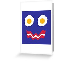 Eggs and Bacon Face Greeting Card