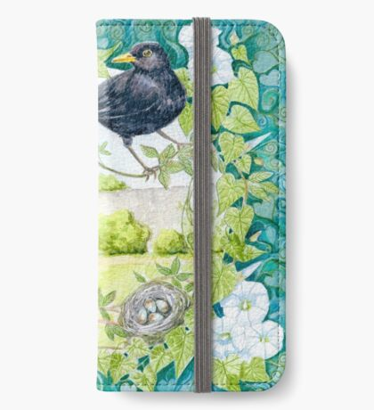 Blackbirds in my Garden iPhone Wallet/Case/Skin