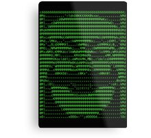 Mr Robot fsociety Mask in Code (as seen in Social Engineers Toolkit) Metal Print