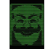 Mr Robot fsociety Mask in Code (as seen in Social Engineers Toolkit) Photographic Print
