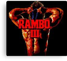 RAMBO III - SEGA GENESIS Canvas Print