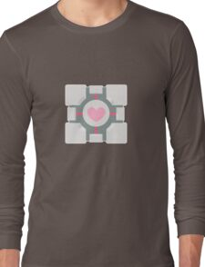 Portal companion cube Long Sleeve T-Shirt