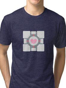 Portal companion cube Tri-blend T-Shirt