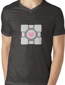 Portal companion cube Mens V-Neck T-Shirt