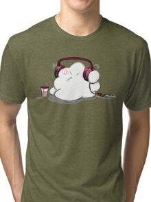 Wanda Happy Cloud Listens to Music Tri-blend T-Shirt