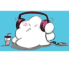 Wanda Happy Cloud Listens to Music Photographic Print